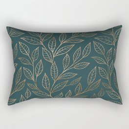 Botanical Pattern - Bronze N7 Rectangular Pillow