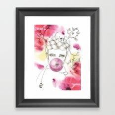 Bubble Birdie Framed Art Print