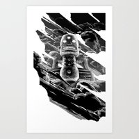totem Art Prints featuring Totem by A P Schofield fine arts