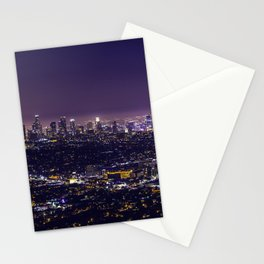 Los Angeles at Night Stationery Cards