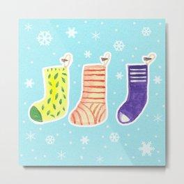 Christmas Socks Metal Print