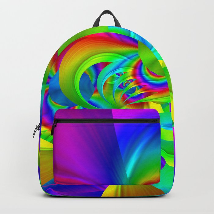 FRACTAL PATTERN RAINBOW-COLORED Backpack