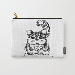 Unlikely Friends :: Cat & Mouse Carry-All Pouch