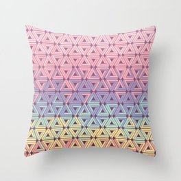 Holographic Candy Geometric Throw Pillow