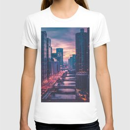 The Pink Cityscape (Color) T-shirt