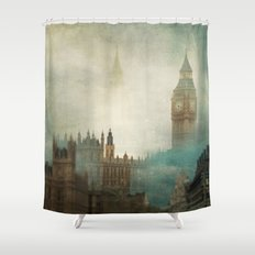London Surreal Shower Curtain