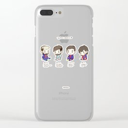 Tiny Messi, pack of 4 Clear iPhone Case