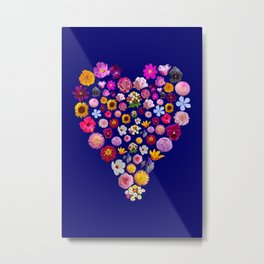 Heart of Flowers Metal Print