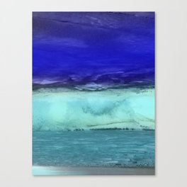 Midnight Waves Seascape Canvas Print