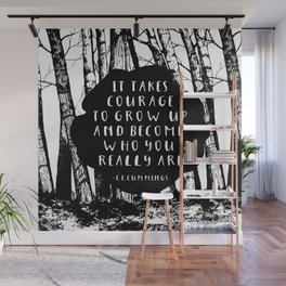 Courage (Designed for The YA Chronicles) Wall Mural