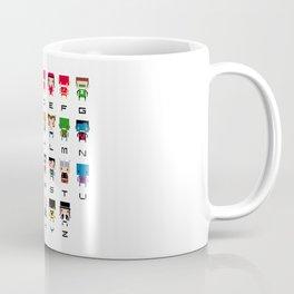 Superhero Alphabet Coffee Mug