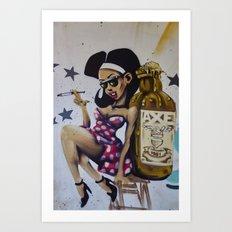 Graffiti in Longueuil Art Print