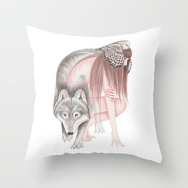 Run With The Wolf Throw Pillow