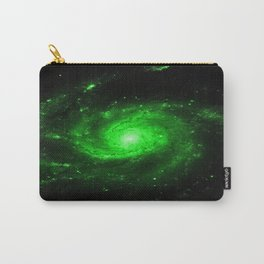 Spiral gAlaXy. Green Carry-All Pouch