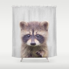 Raccoon - Colorful Shower Curtain