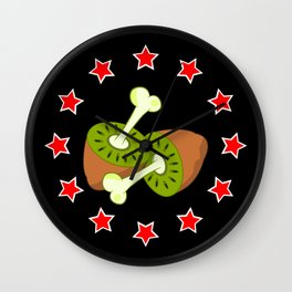 Kiwi Fruit New Zealand Flag Wall Clock