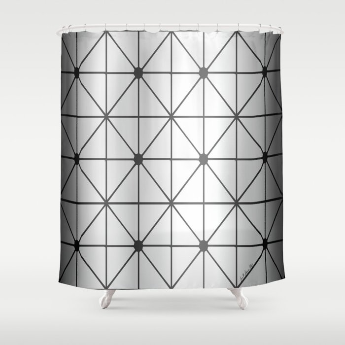 Silver Diamond Shower Curtain By Lfcproductions