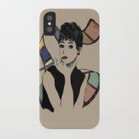 hepburn iPhone & iPod Cases featuring hepburn by jessica