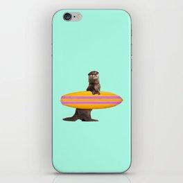 SURFING OTTER iPhone Skin