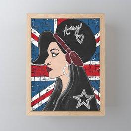 Amy London Graffiti Framed Mini Art Print