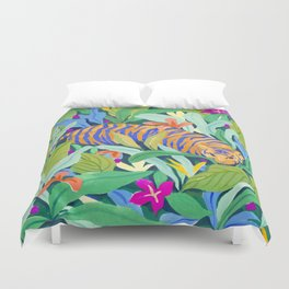 Colorful Jungle Duvet Cover