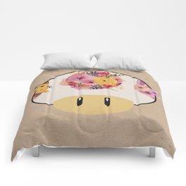 Mushroom in Bloom Comforters