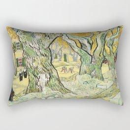 The Road Menders by Vincent van Gogh Rectangular Pillow