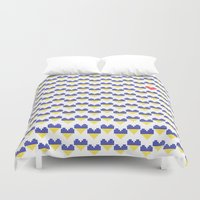 ukraine Duvet Covers featuring I Love Ukraine by Minichka