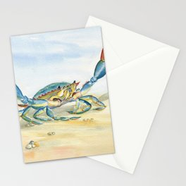 Colorful Blue Crab Stationery Cards