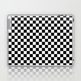 Classic Black and White Race Check Checkered Geometric Win Laptop & iPad Skin
