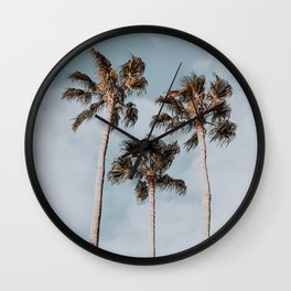 three palm trees iii Wall Clock