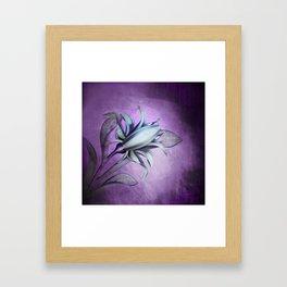 Ultra Violet Iris Framed Art Print