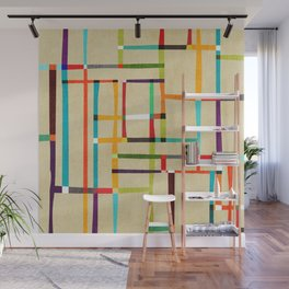 The map (after Mondrian) Wall Mural