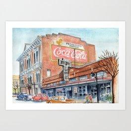 Kentucky Street, Petaluma, CA Art Print