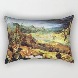Pieter Brueghel the Elder - The Return of the Herd Rectangular Pillow