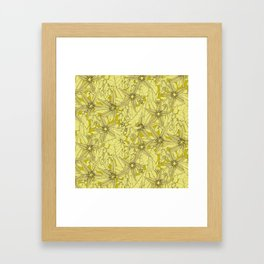 deadly nightshade chartreuse Framed Art Print