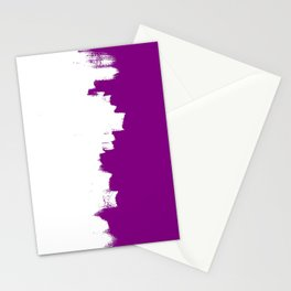 Purple imbalance Stationery Cards