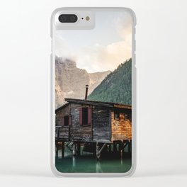 Lago di Braies Clear iPhone Case