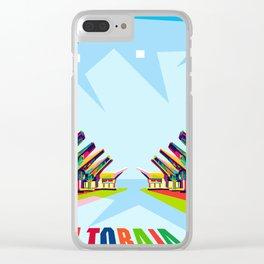 Toraja Land In Pop Art Clear iPhone Case
