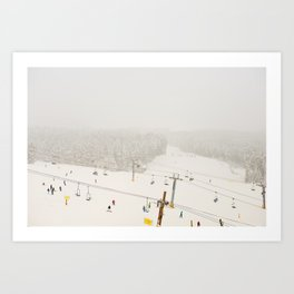 powder day Art Print