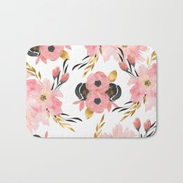 Night Meadow on White Bath Mat