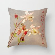 Aquilegia 3 Throw Pillow