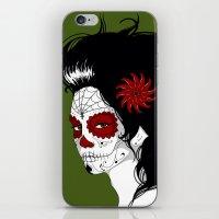 calavera iPhone & iPod Skins featuring Calavera by Griboedova Nat