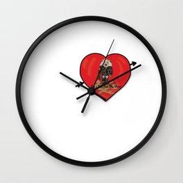 Don't Run Over My Heart Wall Clock