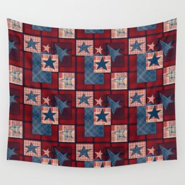 Creative patchwork. Star. The creative pattern. Wall Tapestry