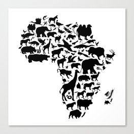 Animals of Africa Canvas Print