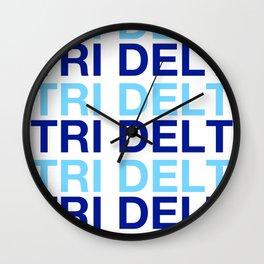 DELTA DELTA TRI DEL HAVE A NICE DAY DDD Wall Clock