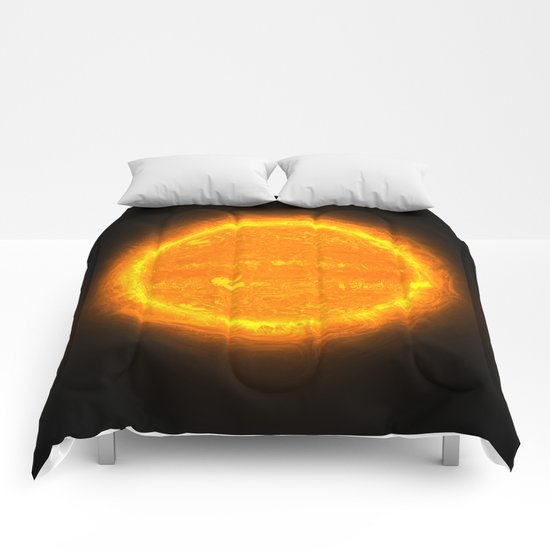 Huge Orange Star @ iGOTaSTAR.com Comforters