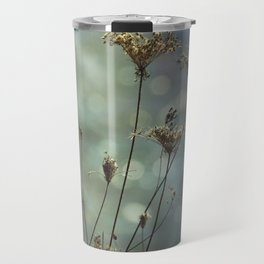 Queen Anne's Lace on Bokeh Background Travel Mug