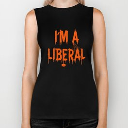 Halloween I'm A Liberal Biker Tank
